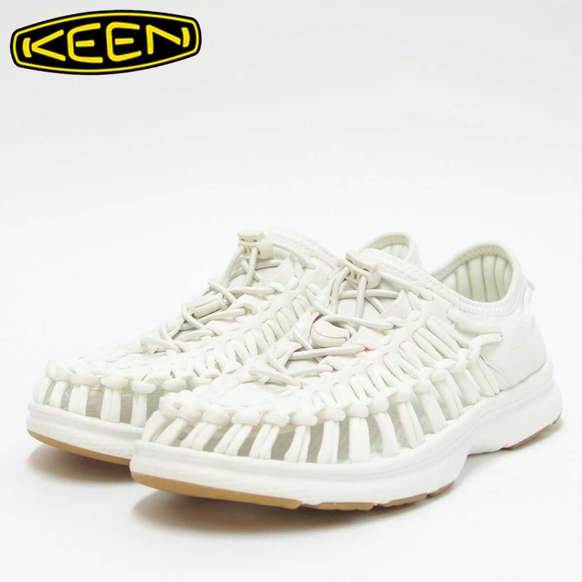 KEEN キーン UNEEK O2(ユニーク オーツー) 1017059(レディース)キーン独自のオープンエアースニーカー カラー:White/Harvest Gold「靴」