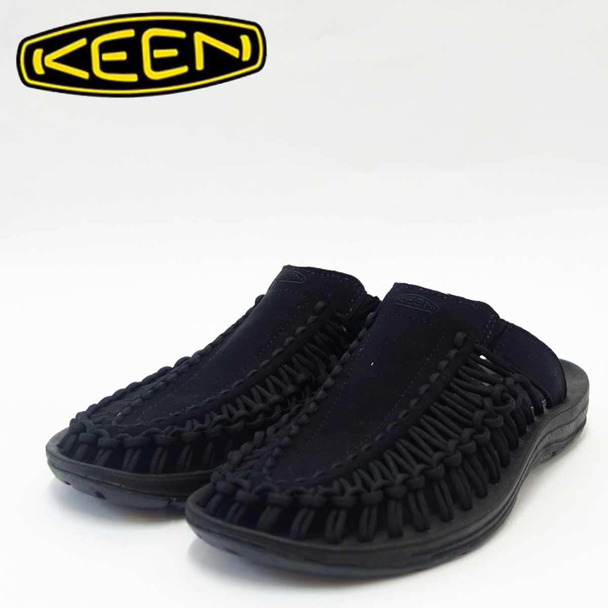 KEEN キーン UNEEK SLIDE(ユニーク スライド) 1017258(レディース)キーン独自のハイブリッドサンダル カラー:Black/Black 「靴」