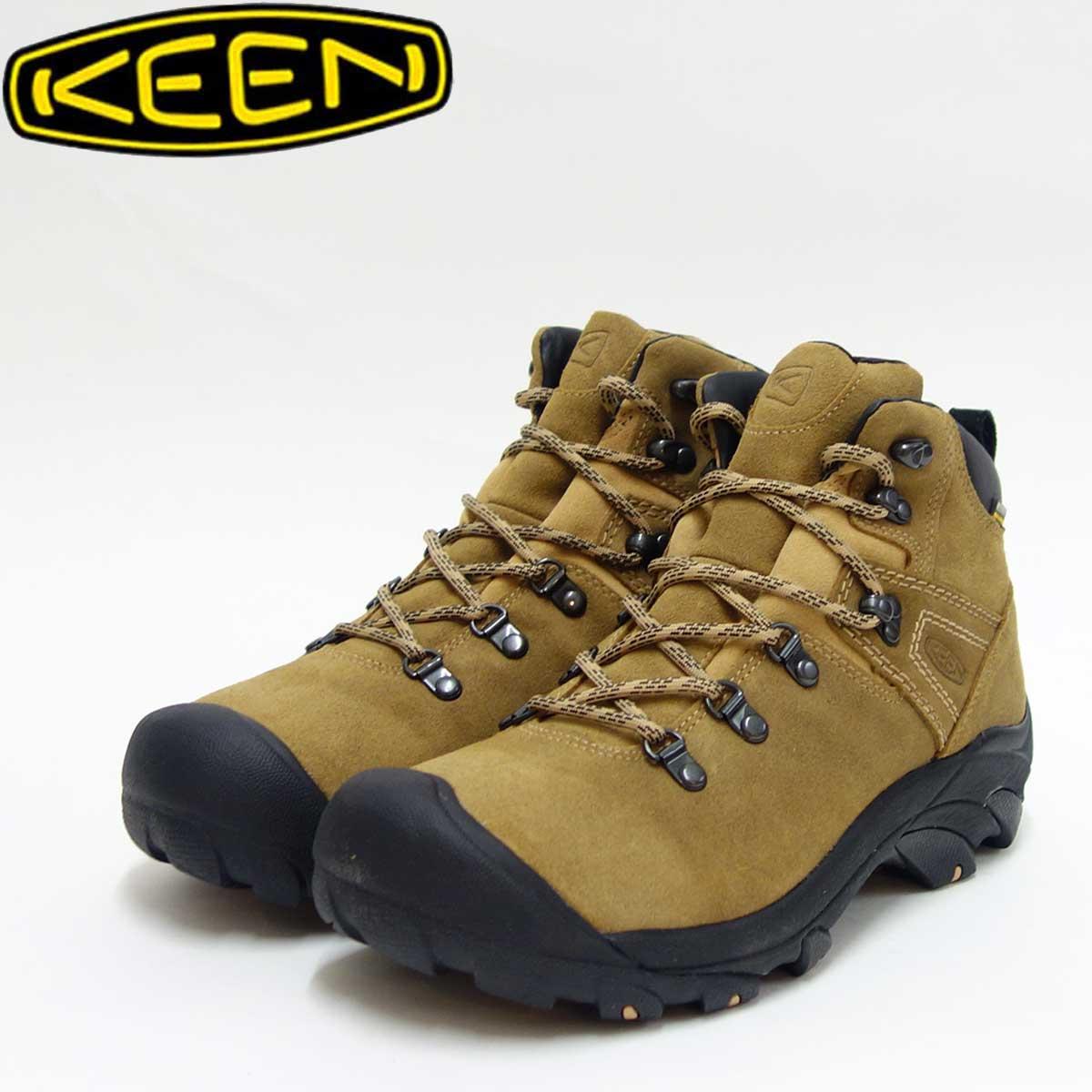 KEEN キーン Pyenees 1017348 ピレニーズ Latte(メンズ)防水仕様、オールレザーのハイキングシューズ「靴」
