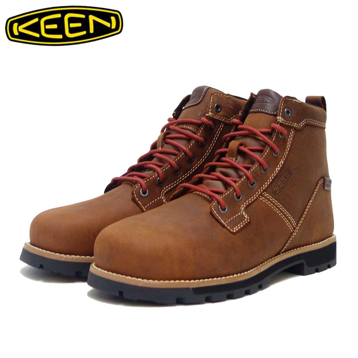 キーン KEEN シアトル シックス エーティー ウォータープルーフ 1020062 Gingerbread/Brick Red(メンズ)工事現場用ワークシューズ 安全靴「靴」