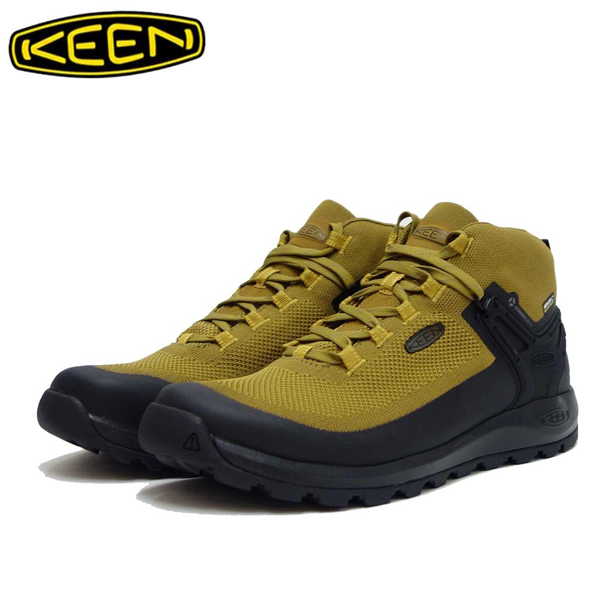 KEEN キーン Citizen EVO MID WP 1021162(メンズ)カラー: Coyote/Black シティズン エヴォ ミッド ウォータープルーフ 「靴」