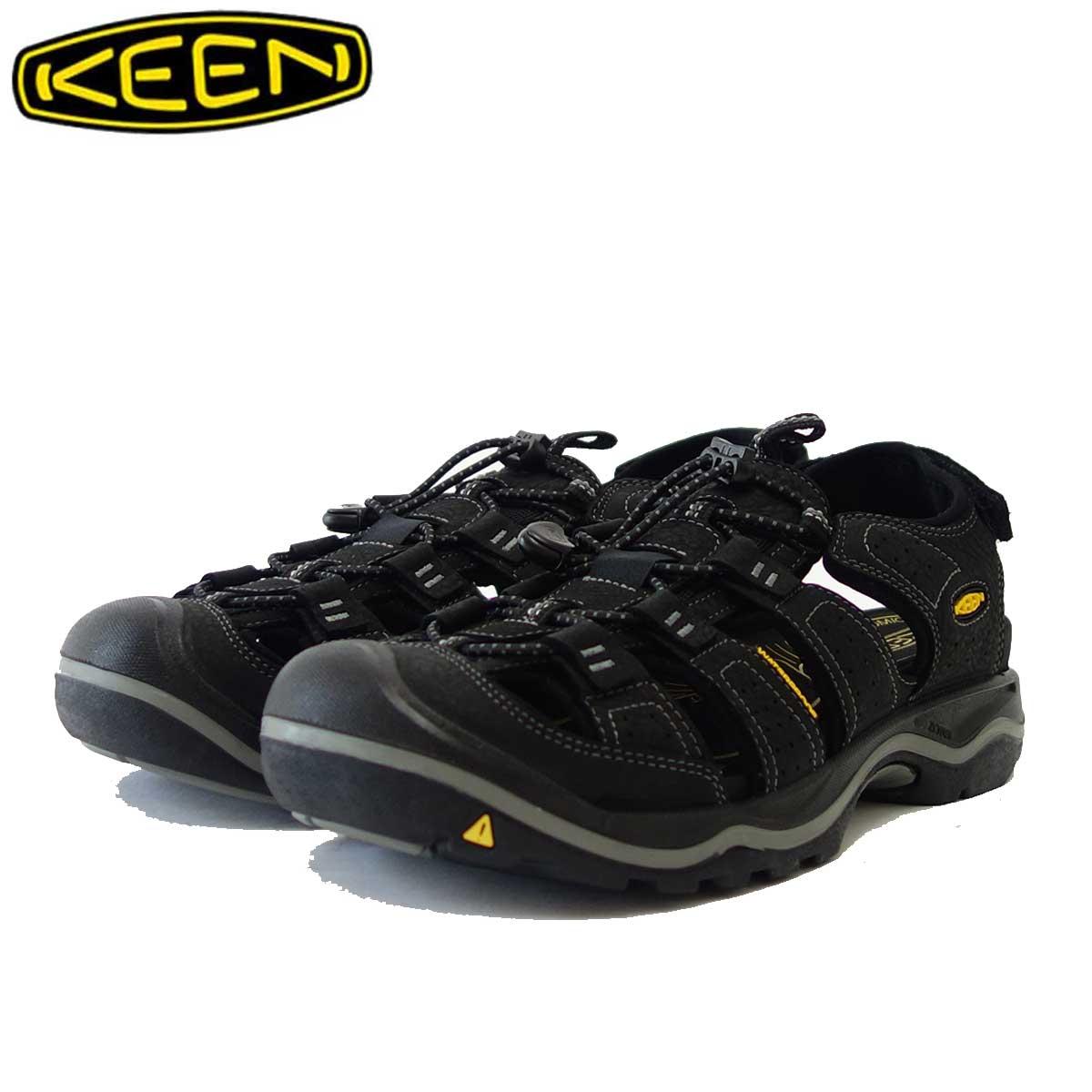 KEEN キーン Rialto(リアルト) 1021371(メンズ) カラー:Black/Gargoyle 「靴」