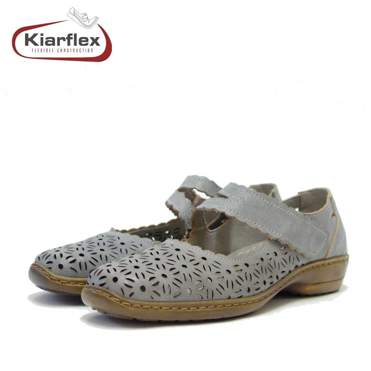 Kiarflex キアラフレックス 19040 004 ブルー (レディース) 屈曲性の良いお洒落ストラップシューズ 「靴」