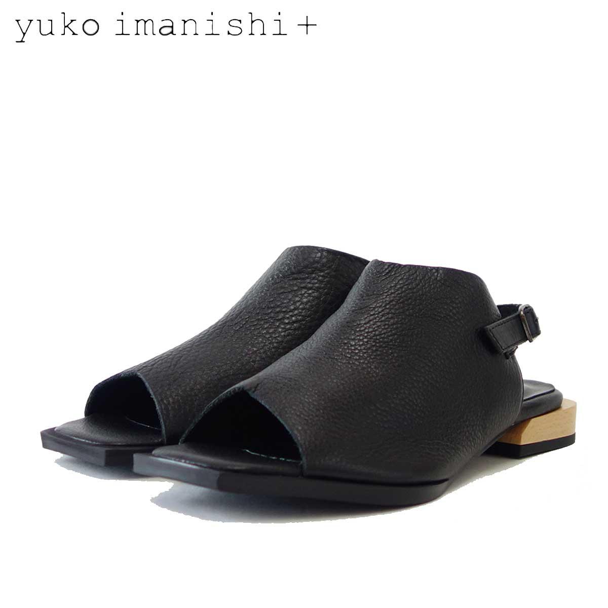 ユーコ イマニシ yuko imanishi +  792012 ブラック オープントゥ フラットサンダル 「靴」