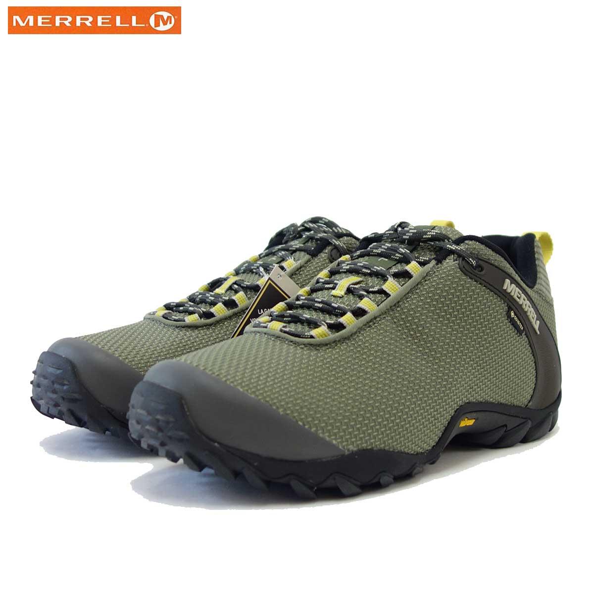 メレル MERRELL (メンズ)カメレオン 8 ストーム ゴアテックス 033671 LICHEN ゴアテックス内蔵・通気性メッシュ「靴」