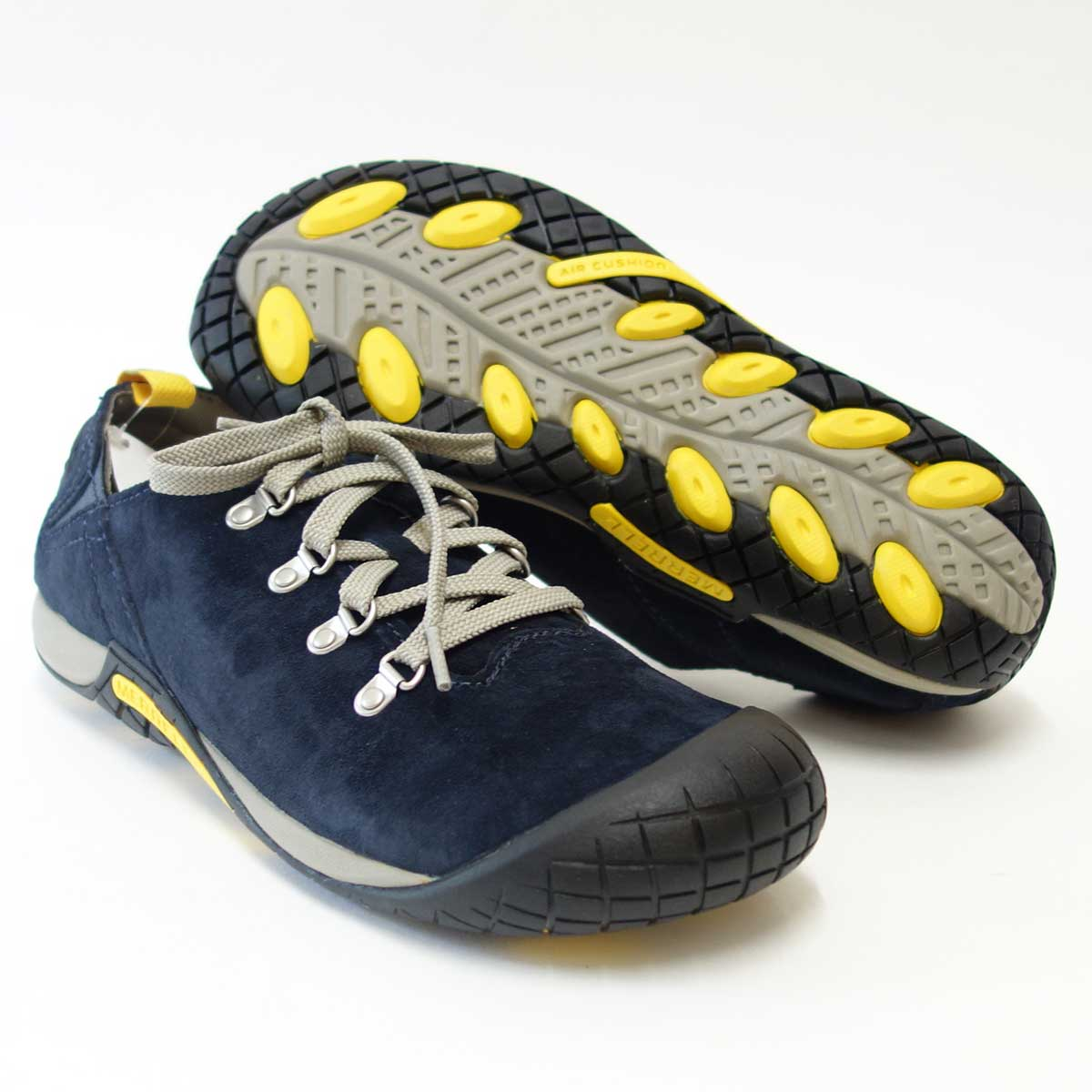 自然にフィットする快適カジュアル靴MERRELL メレル パスウェイレース(メンズ)ネイビー 575517 エアークッションで快適ウォーク「靴」