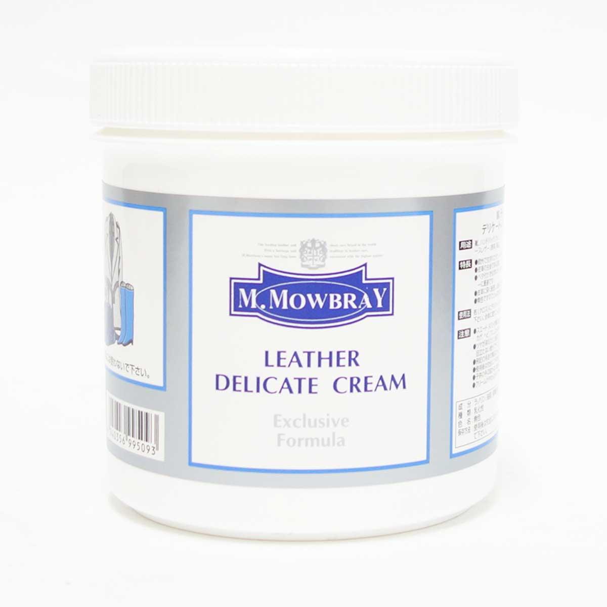 M.MOWBRAY M.モゥブレィデリケートクリーム Lサイズ(イタリア製)<BR>ソフトレザーに最適なジェル状の栄養クリーム500ml モウブレイ R&D