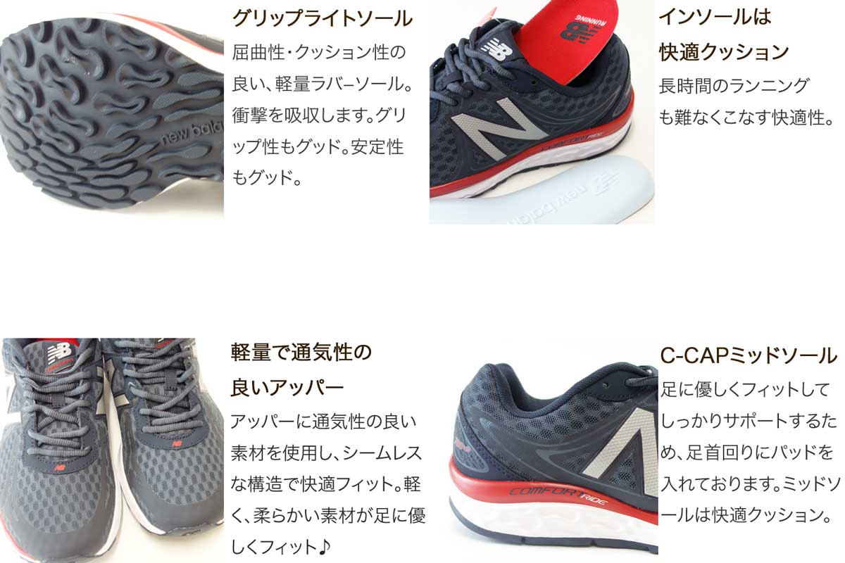 Comfortable Road Running Shoes M720 Grey Men S D Width Cushioning C Cap With