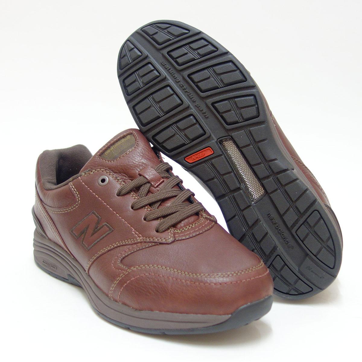 超ゆったりウォーキングシューズnew balance ニューバランス MW585 ウッドブラウン(メンズ)6E幅旅行などに最適、天然皮革・防水仕様「靴」