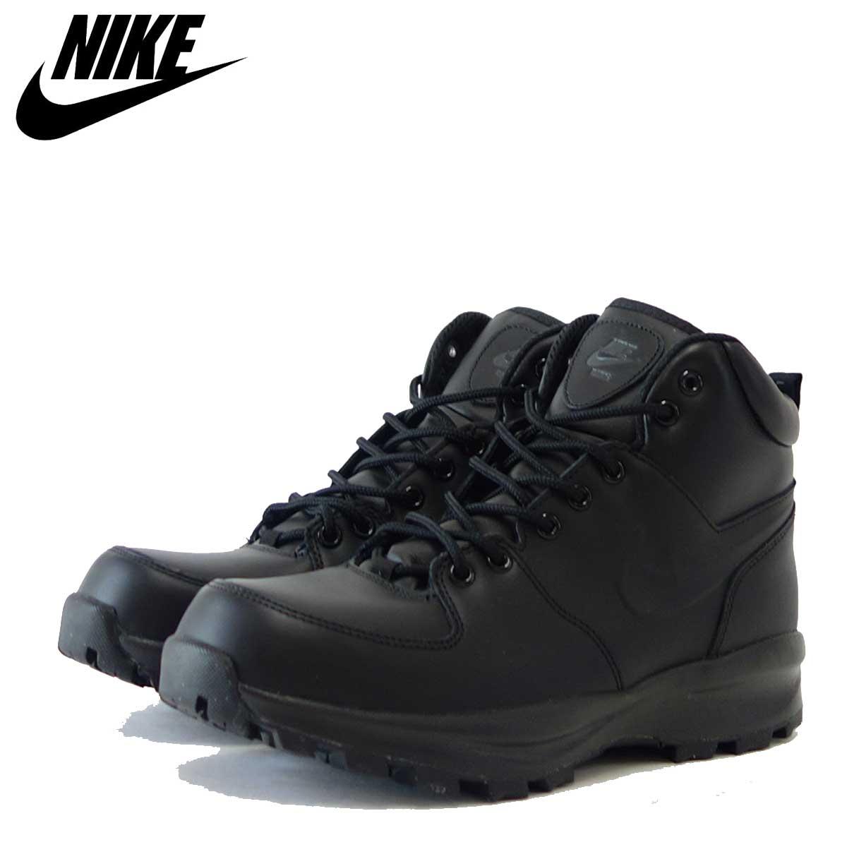NIKE ナイキ マノアレザー 454350 003 ブラック(メンズ) NIKE MANOA LEATHER 「靴」