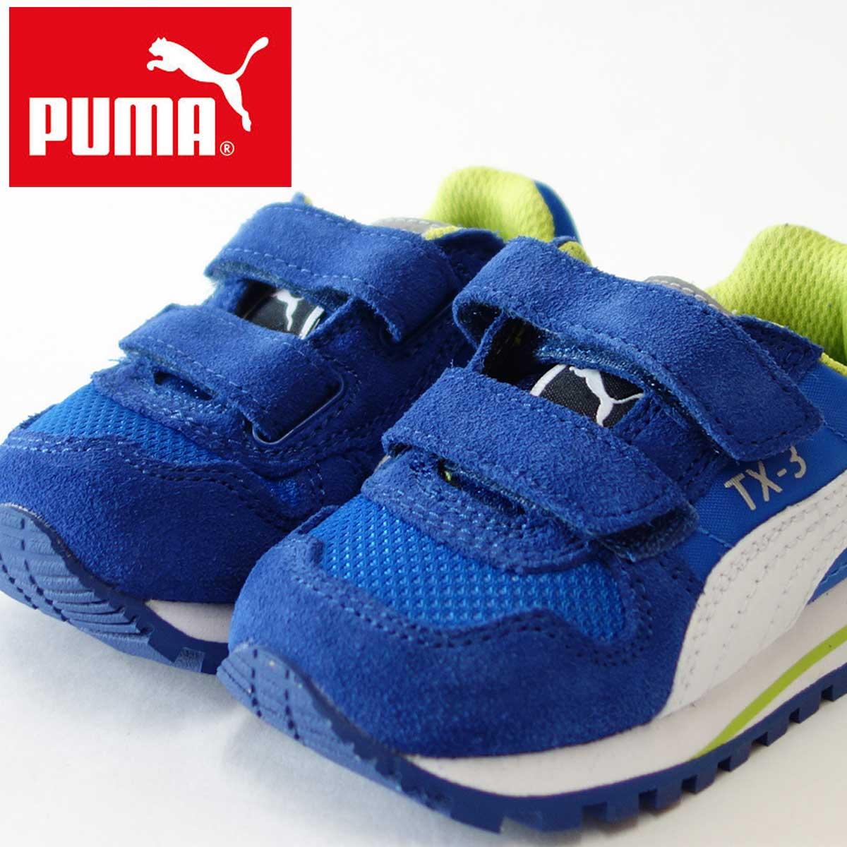 PUMA プーマ 357313 TX-3 V キッズカラー:puma royal-white「靴」子供「靴」