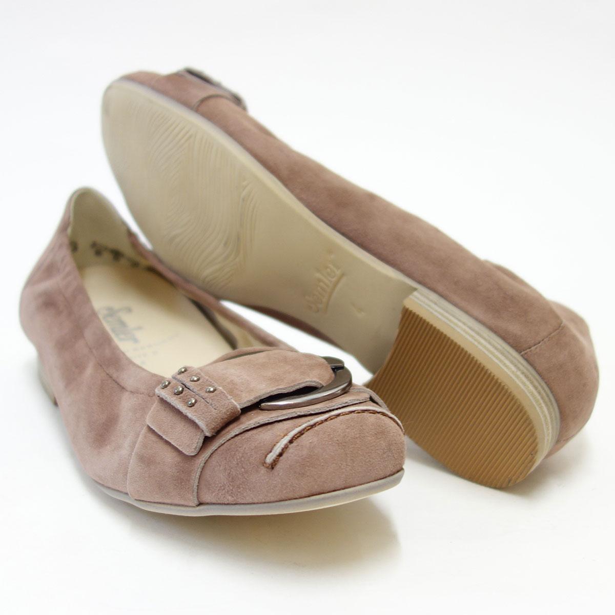 足をやさしく包み込む快適シューズSemler セムラー 5158 altrosa(アルトローズ)きれいな色合いのバレエシューズ「靴」