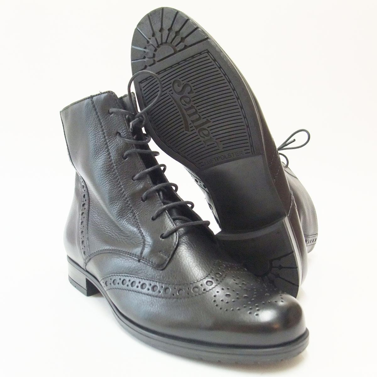 快適性と美しさを併せ持つヨーロッパ製ブーツ Semler セムラー 1805 ブラックドイツ生まれの快適コンフォートシューズ「靴」