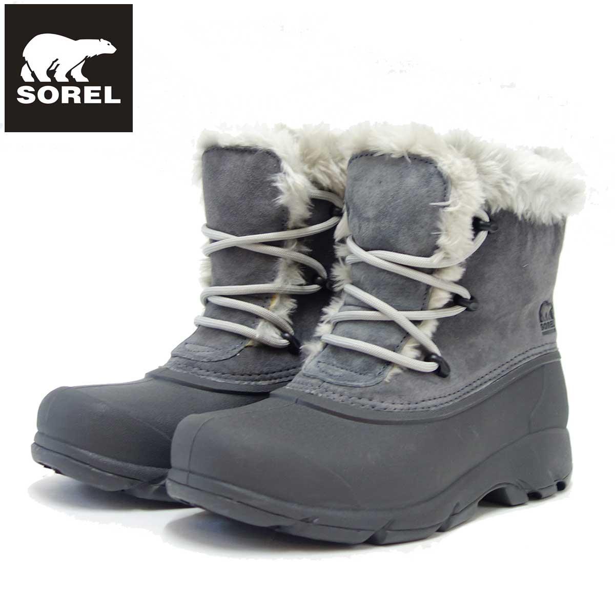 ソレル SOREL NL 1810(レディース) スノーエンジェルレース:チャコール (030) 保温性・撥水性抜群の快適ウィンターブーツ 「靴」