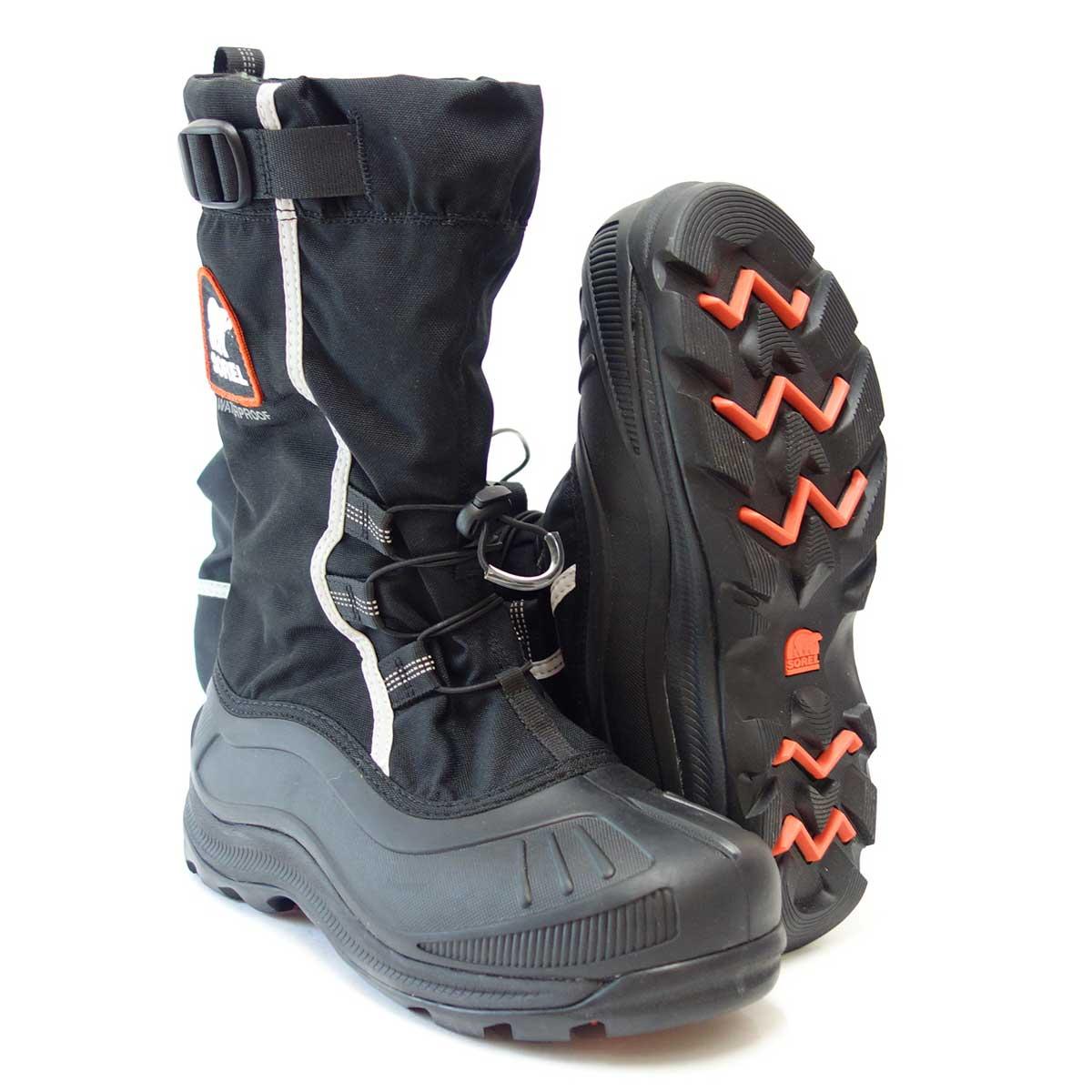 保温性・防水性抜群の快適ウィンターブーツSOREL ソレル NM2127(メンズ)ALPHA PAC XT アルファパック XT:BLACK「靴」