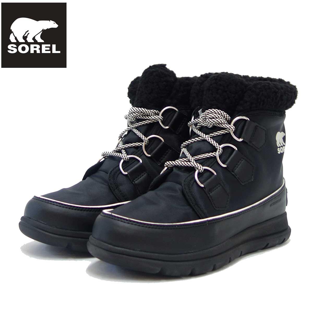 ソレル SOREL NL 3040(レディース) エクスプローラーカーニバル:Black (010) 防水・軽量ショートブーツ「靴」