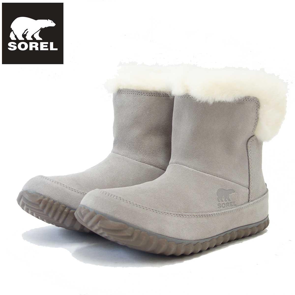 ソレル SOREL NL 3073(レディース) アウトアンドアバウトブーティー:Chrome Grey (061) 保温性・撥水性抜群の快適ウィンターブーツ 「靴」
