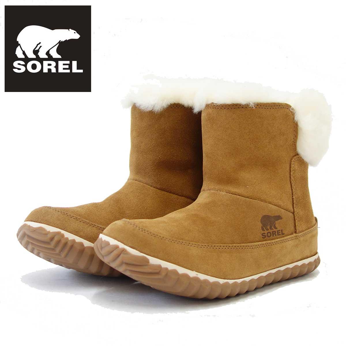 ソレル SOREL NL 3073(レディース) アウトアンドアバウトブーティー:ELK (286) 保温性・撥水性抜群の快適ウィンターブーツ 「靴」
