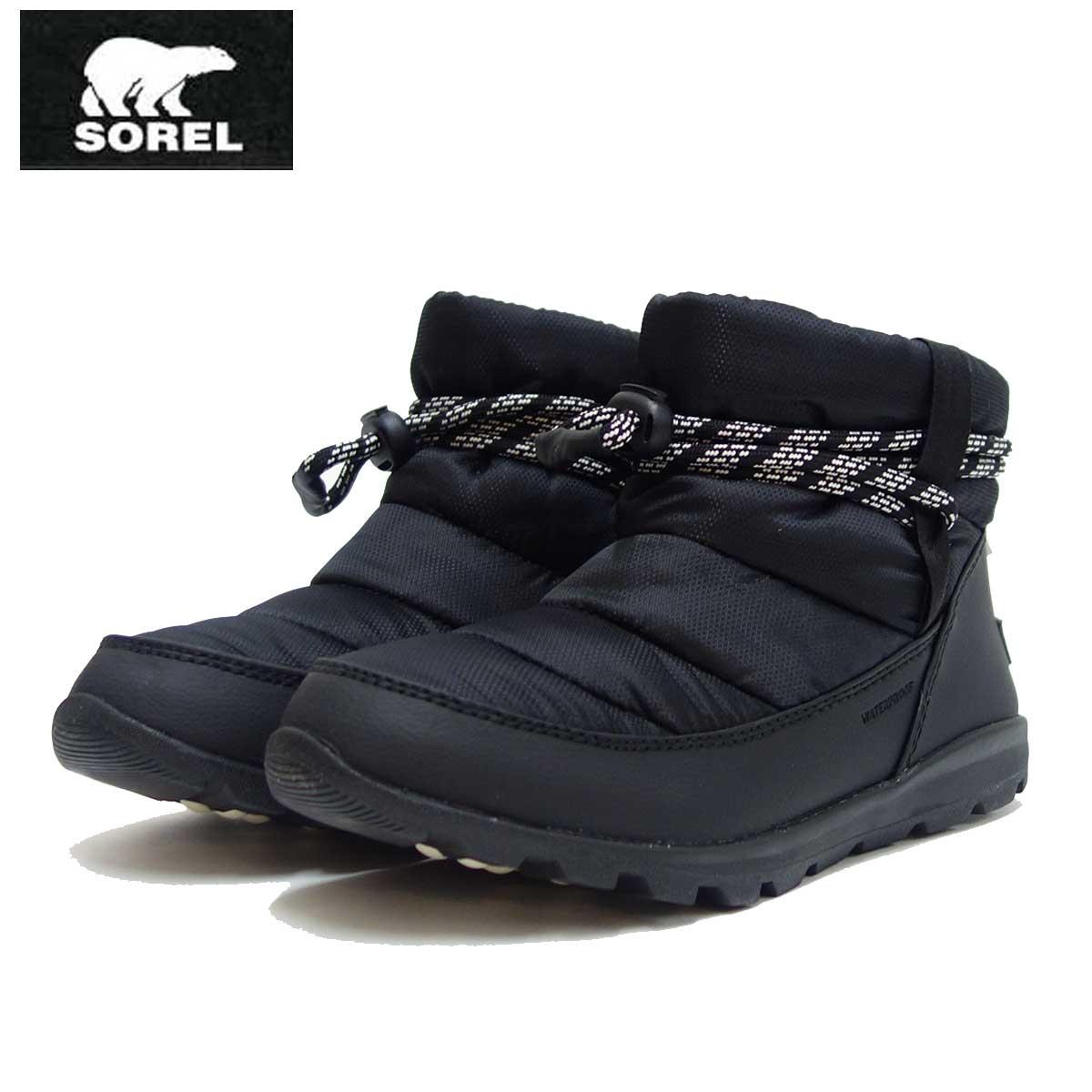 ソレル SOREL NL 3088(レディース) ウィットニーショート:ブラック (010) 保温性・撥水性抜群の快適ウィンターブーツ 「靴」
