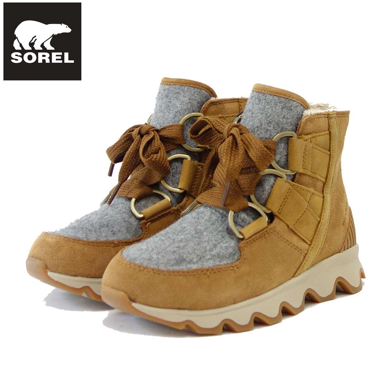 ソレル SOREL NL 3097(レディース) キネティックショートレース:キャメルブラウン (224) 保温性・撥水性抜群の快適ウィンターブーツ 「靴」