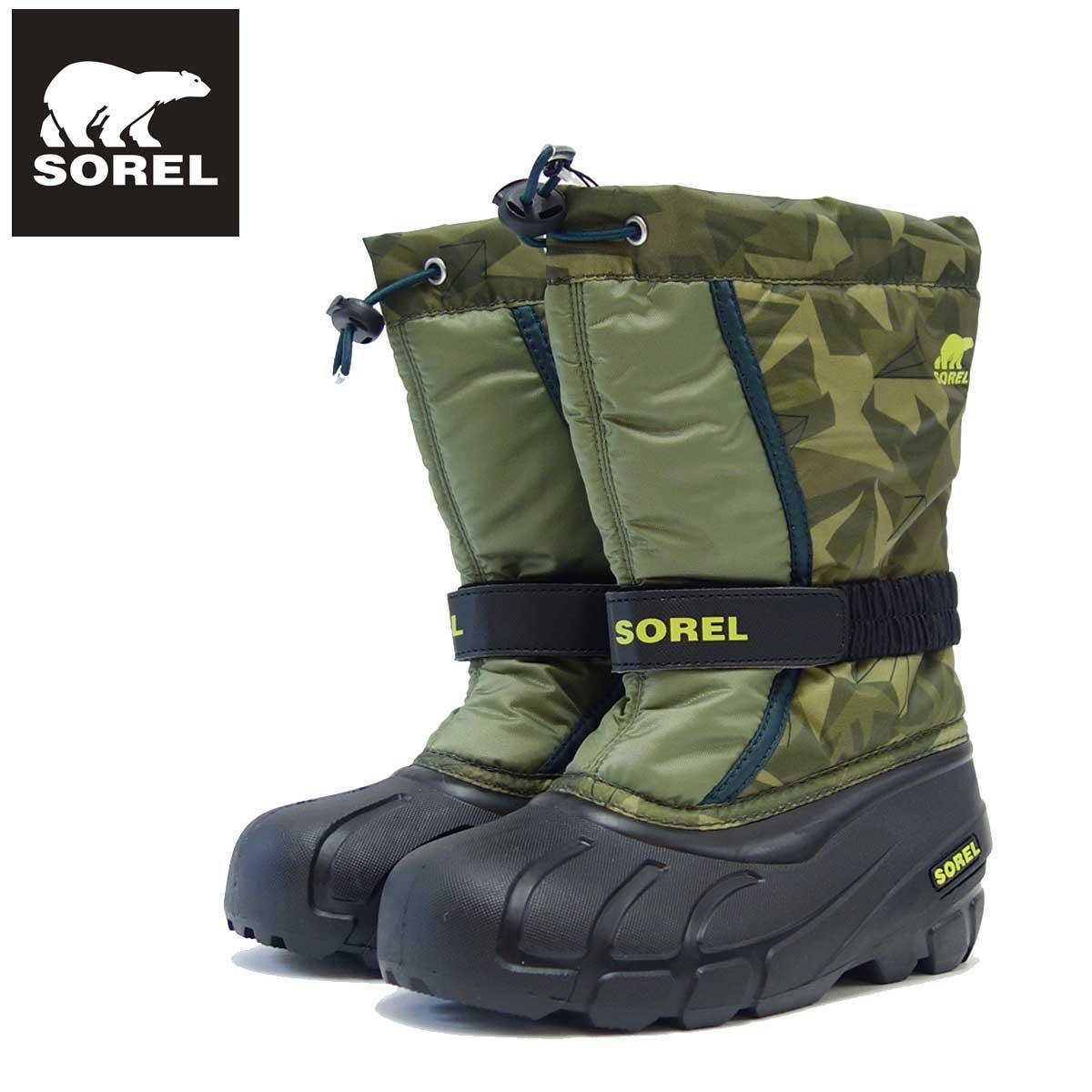 ソレル SOREL NY 3504(キッズ) ユースフルーリー:Hiker Green/Black (371) 「靴」