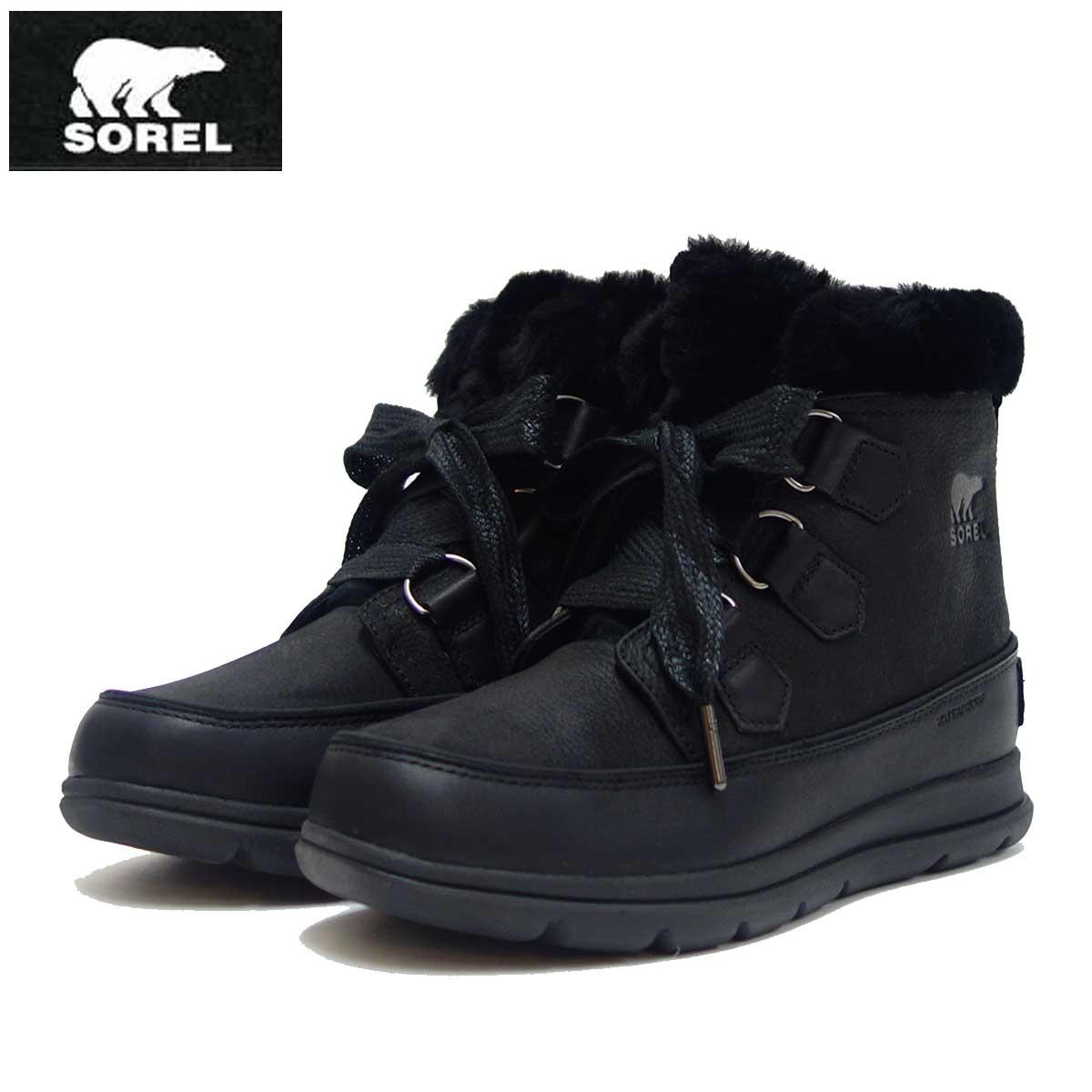 ソレル SOREL LL 5326(レディース) エクスプローラーラックス:ブラック (010) 防水・天然皮革ショートブーツ「靴」