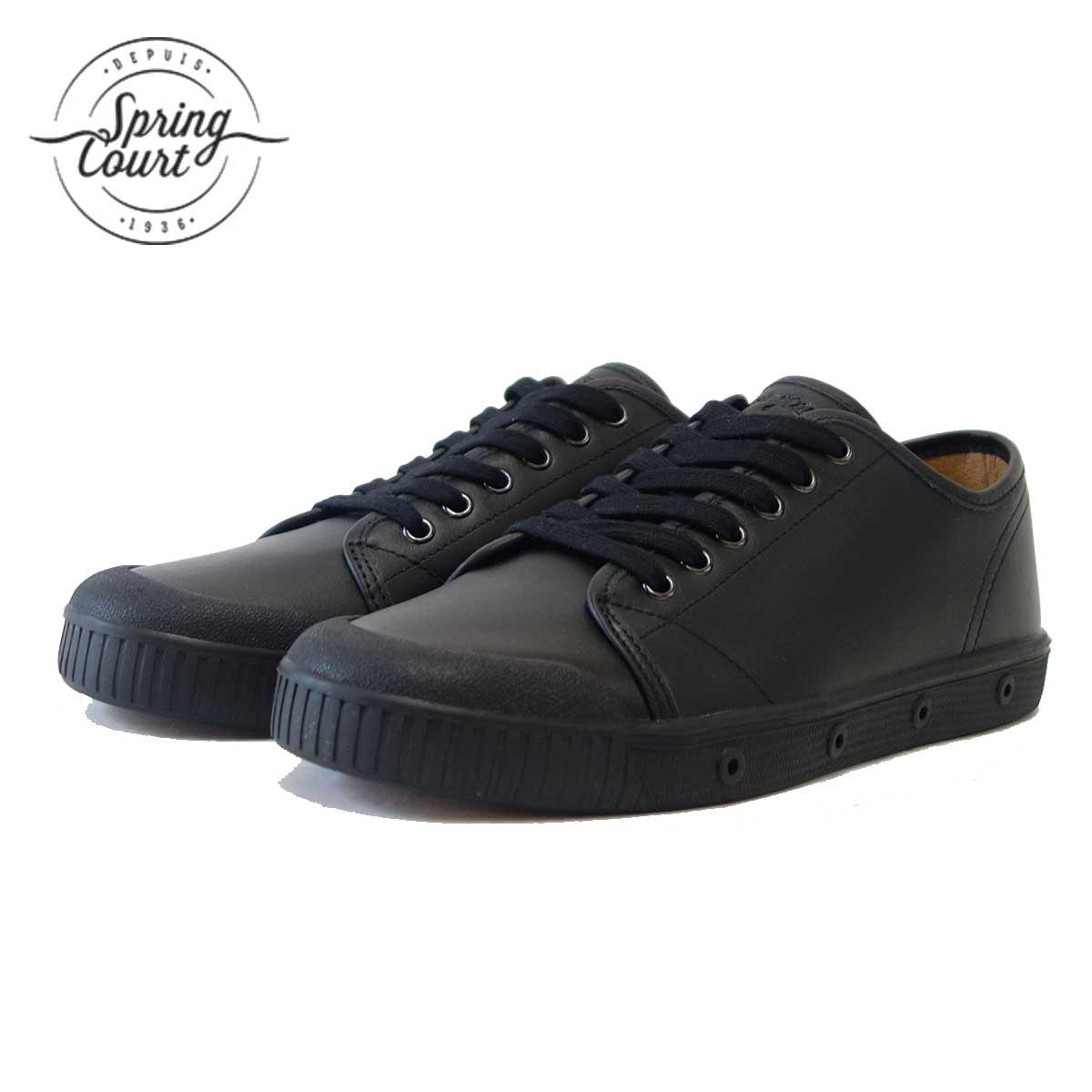 Spring Court スプリングコート G2S-V5(レディース)G2 Leather BLACK 天然皮革のローカットスニーカー 「靴」