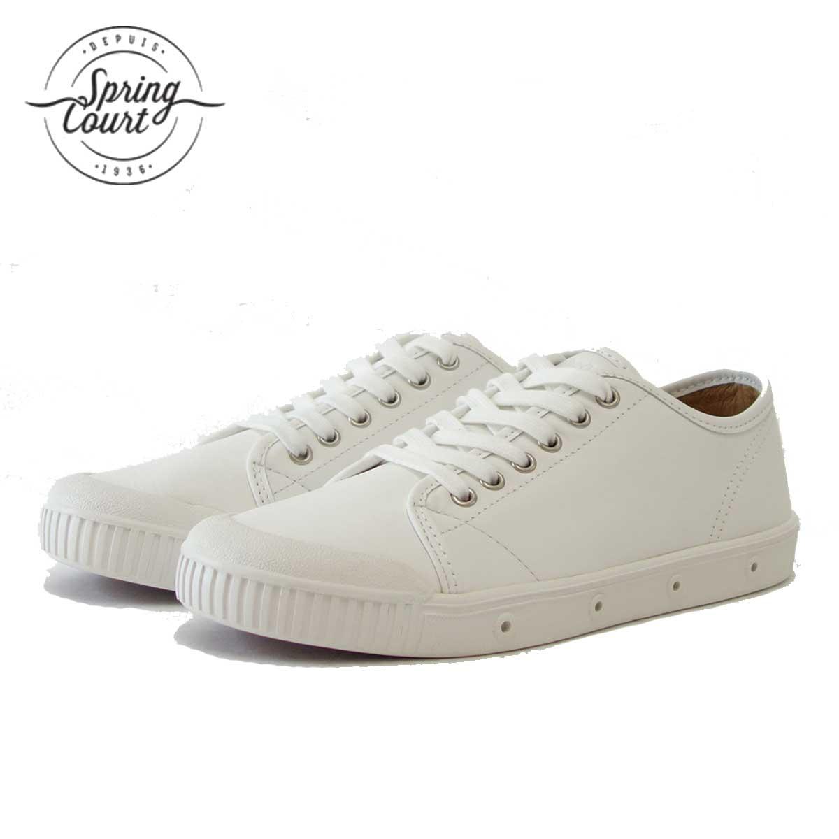 Spring Court スプリングコート G2S-V5(レディース)G2 Leather WHITE 天然皮革のローカットスニーカー 「靴」