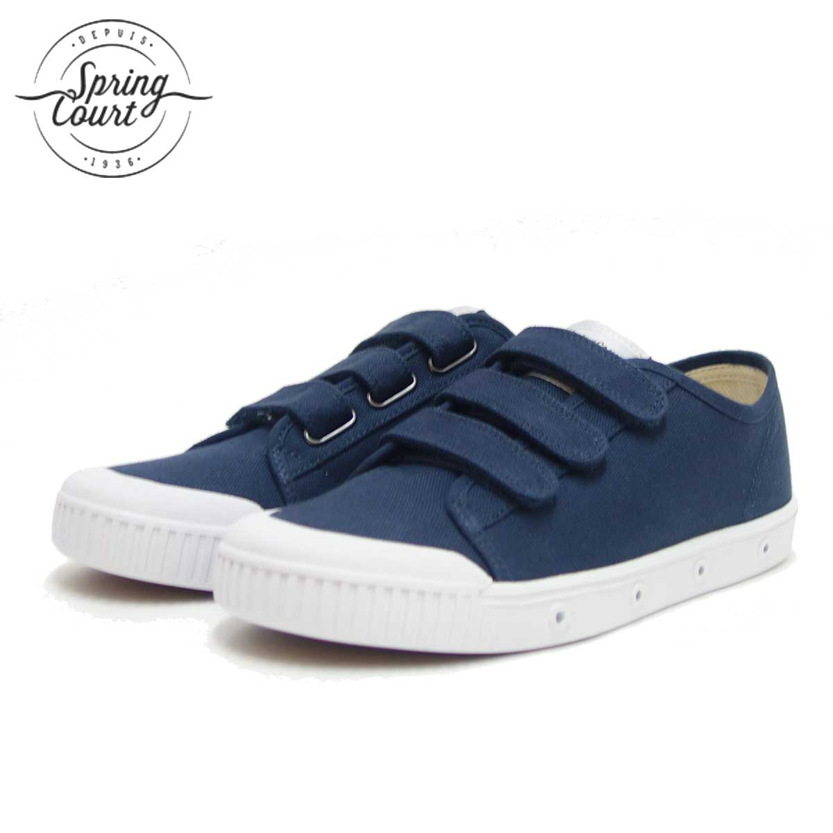 Spring Court スプリングコート G2SV-V1(レディース)VELCRO CANVAS MIDNIGHT BLUE キャンバス地のベルクロスニーカー 「靴」