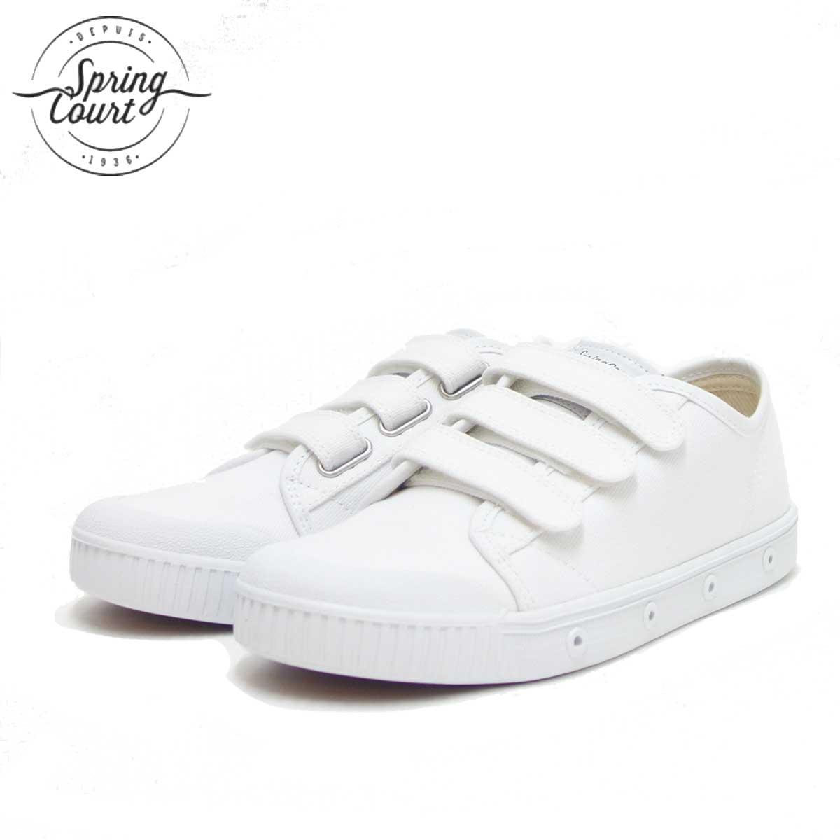 Spring Court スプリングコート G2SV-V1(レディース)VELCRO CANVAS WHITE キャンバス地のベルクロスニーカー 「靴」