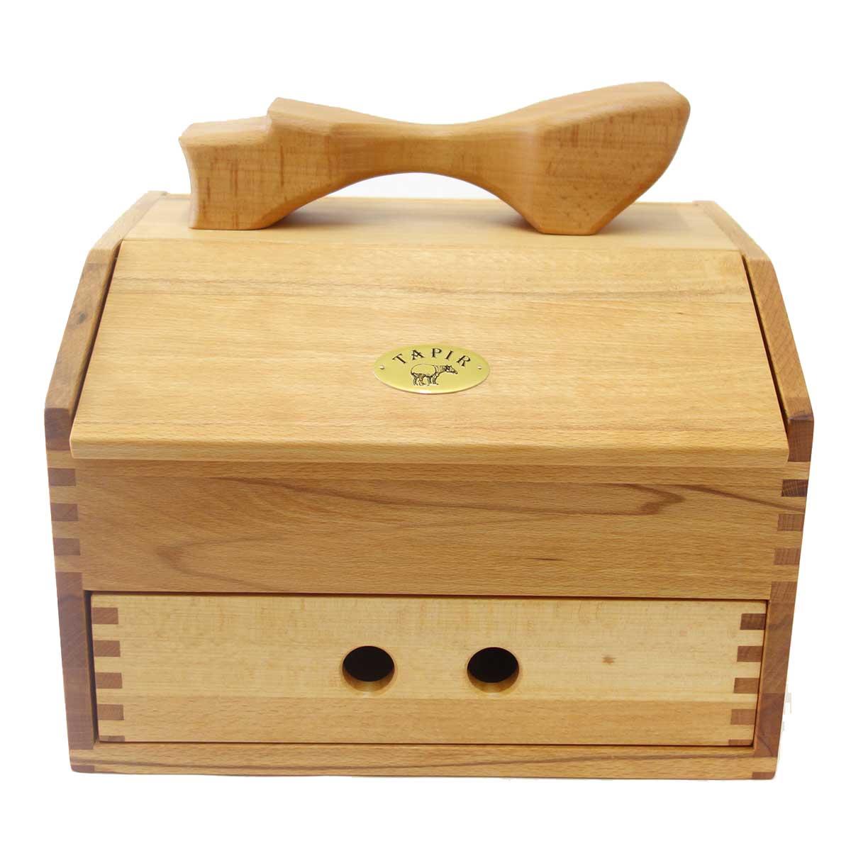 TAPIR タピール 木の道具箱『大きいサイズ』(木箱のみ)使い込むほどに味がでます(ドイツ製)