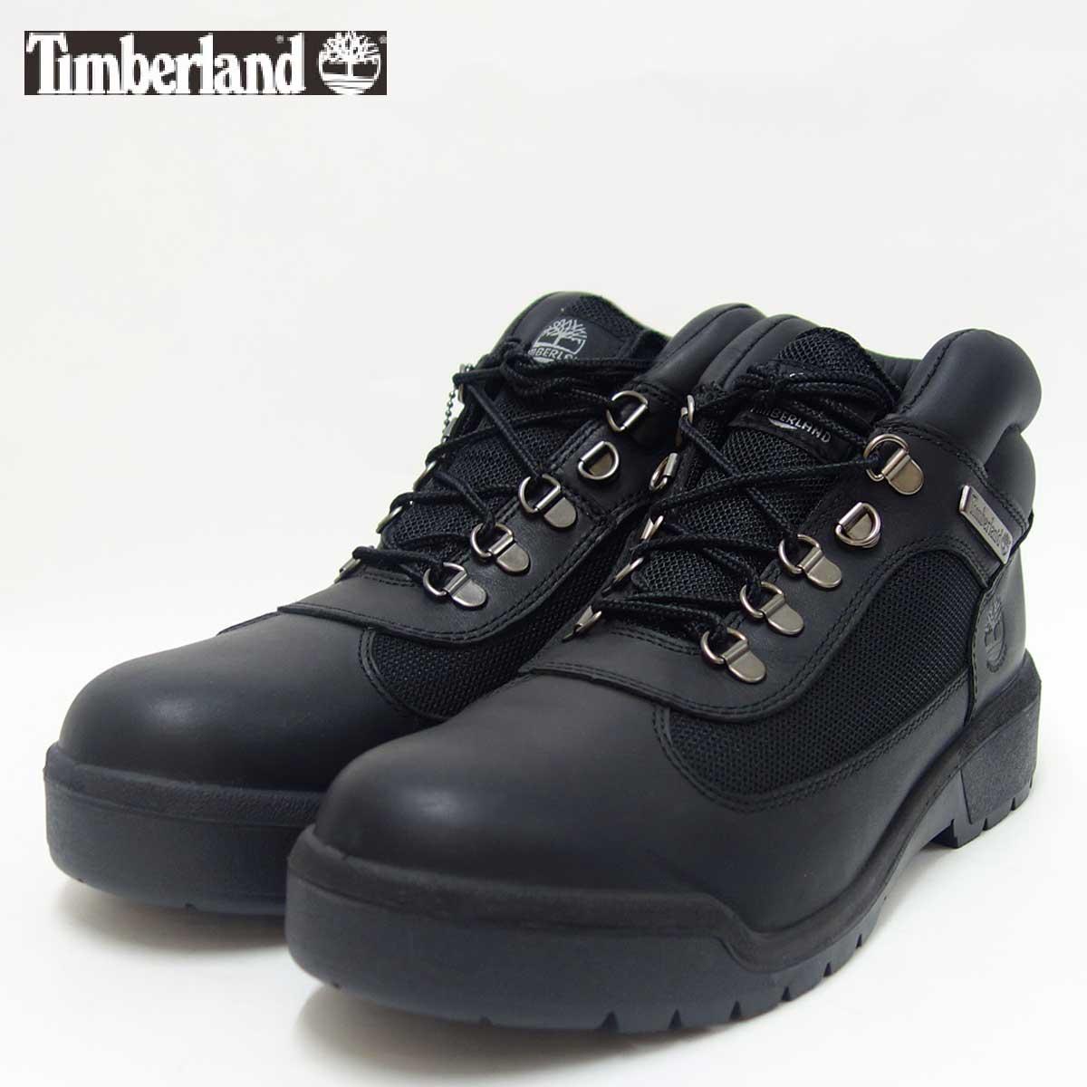 『Timberland』ティンバーランドa17ky ブラック(メンズ)フィールドブーツファブリック アンド レザー ウォータープルーフ『靴』