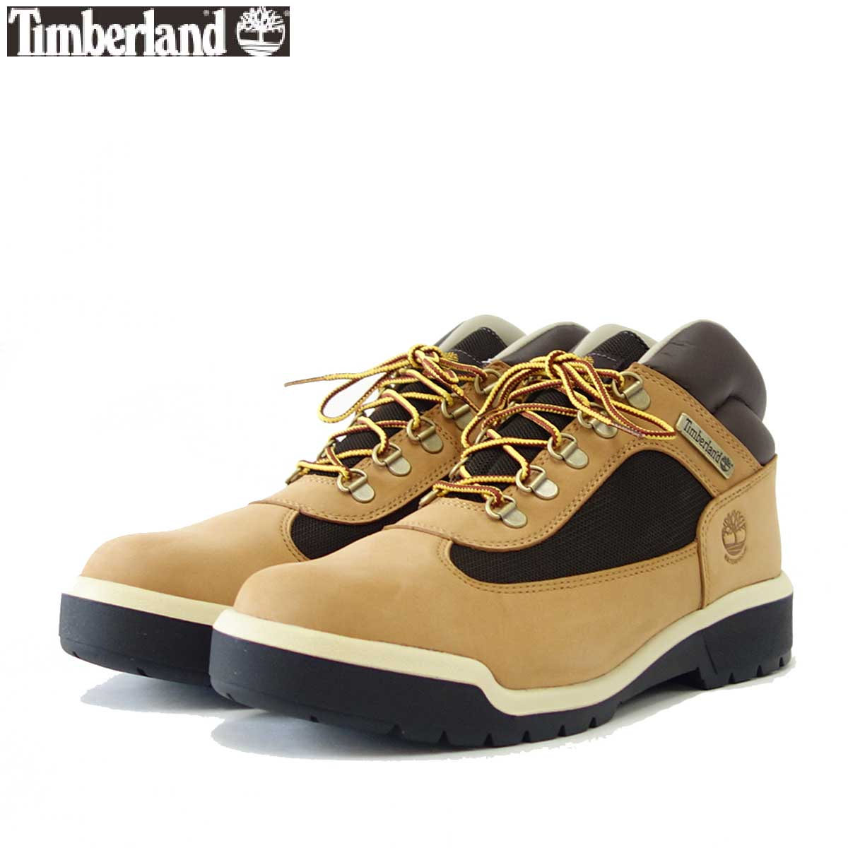 Timberland ティンバーランド a1xp5 フィールドブーツ (ミディアムベージュ/ヌバック) ウォータープルーフ レザー アンド ファブリック ミッドブーツ「靴」