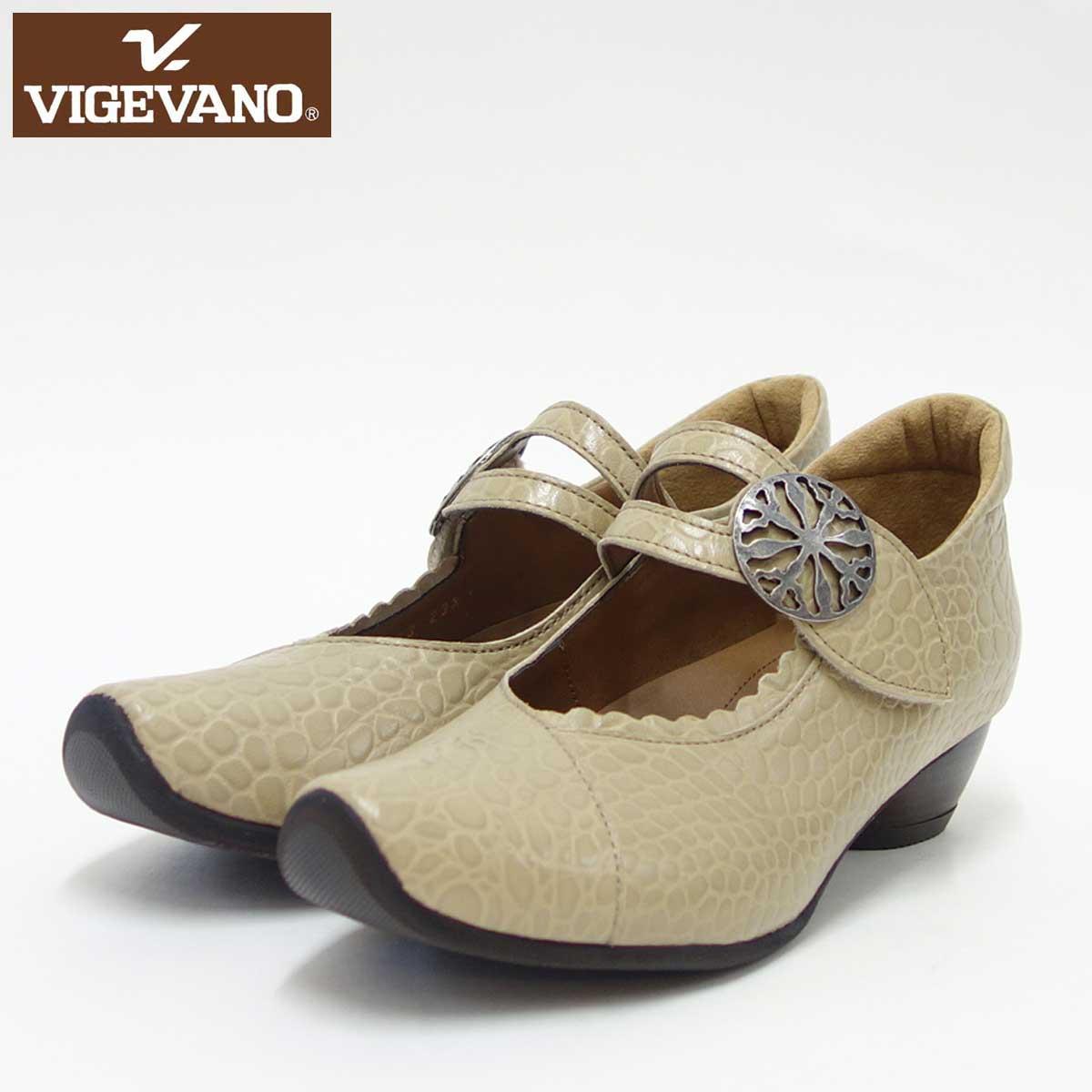 VIGEVANO ビジェバノ 7003 オーク(日本製)ゆったりEEEE ストラップパンプス上質な天然皮革が優しく包み込みます「靴」 母の日 おすすめ ギフト