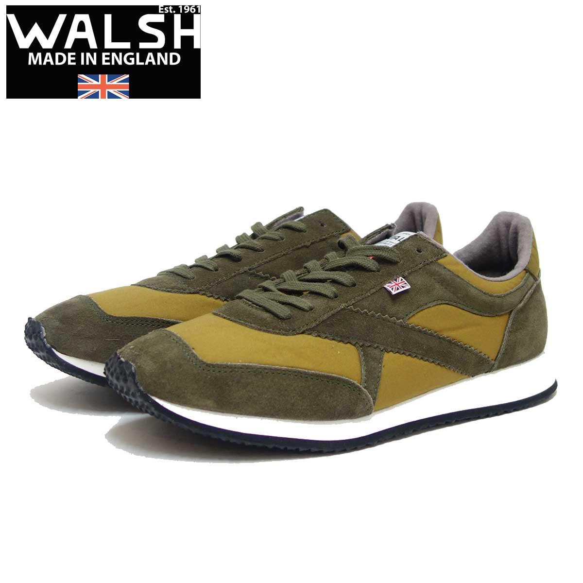 WALSH ウォルシュ TOR51020(ユニセックス) Tornado Halley Steavensons カラー:Forest(英国製) スエード&ワックスキャンバスのランニングスニーカー 「靴」