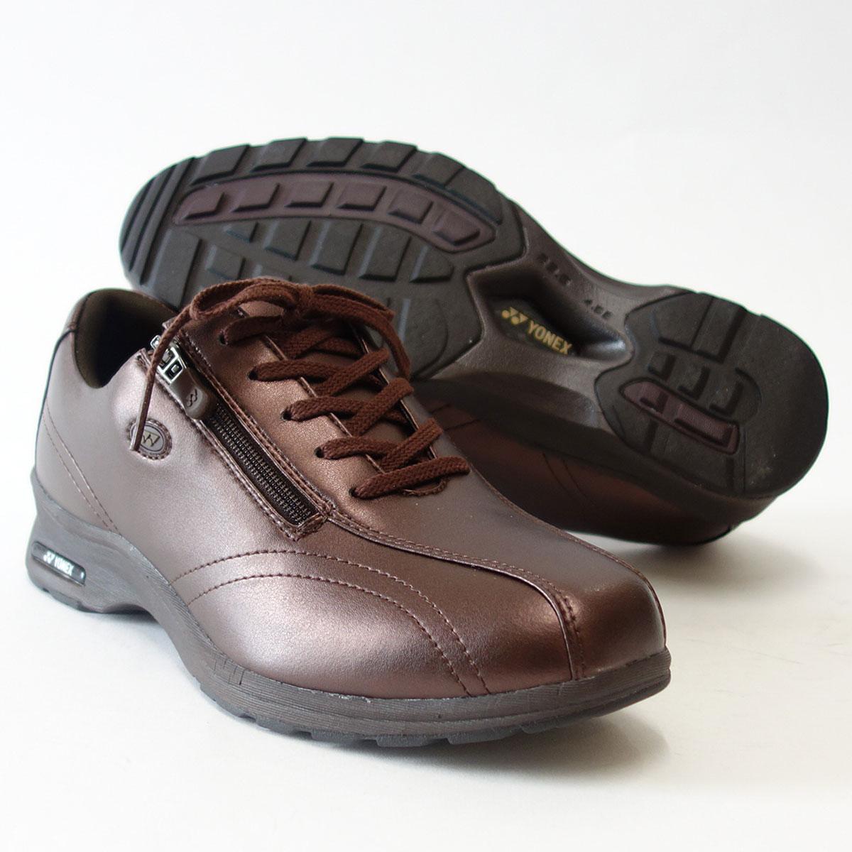 4.5Eのワイド幅&ハイパーライトソールで超軽量ストレッチ素材で足に楽々フィット!【YONEX】ヨネックスLC30W ブロンズ(レディース)軽い疲れにくいウォーキングシューズ『靴』
