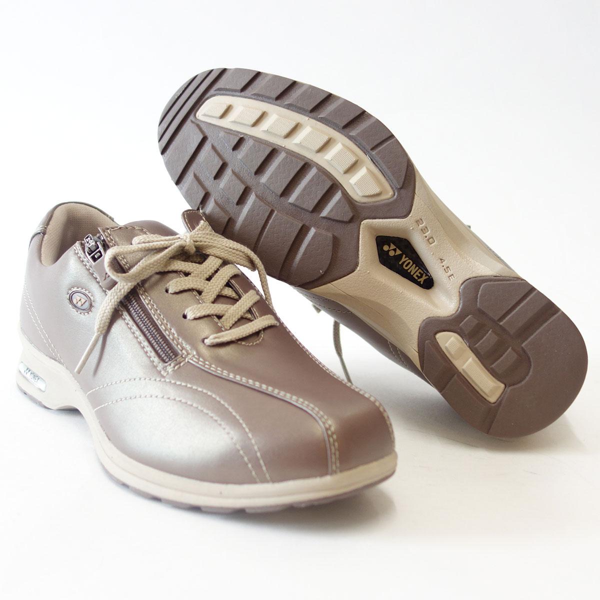 4.5Eのワイド幅&ハイパーライトソールで超軽量ストレッチ素材で足に楽々フィット!【YONEX】ヨネックスLC30W パールローズ(レディース)軽い疲れにくいウォーキングシューズ『靴』