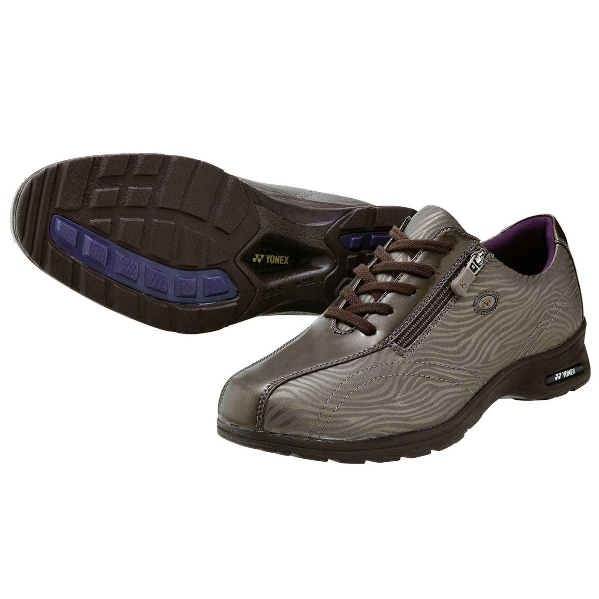 YONEX ヨネックス LC30W ゼブラセピア4.5Eのワイド幅&ハイパーライトソールで超軽量ストレッチ素材で足に楽々フィット!「靴」