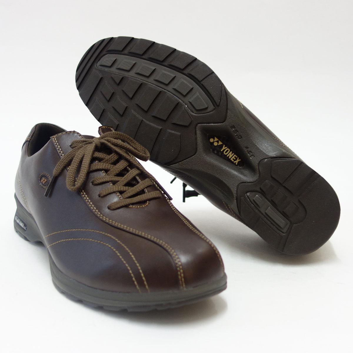 4.5Eのワイド幅&ハイパーライトソールで超軽量ストレッチ素材で足に楽々フィット!【YONEX】ヨネックスMC30W ダークブラウン(メンズ)軽い疲れにくいウォーキングシューズ『靴』