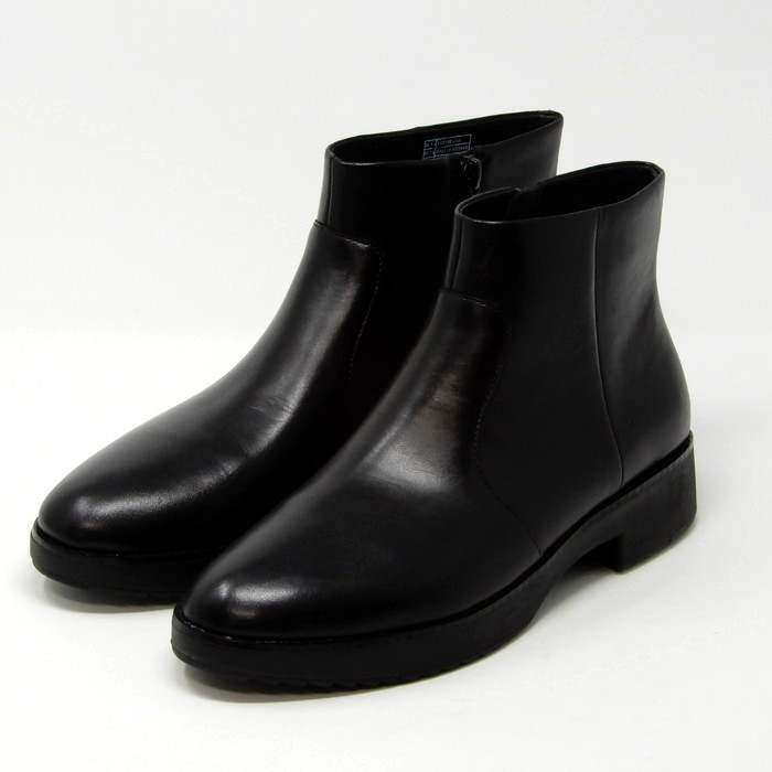 フィットフロップきれいめワークブーツ fitflop Y74-167 MARIA Leather Ankle Boots フィットフロップ マリア アンクルブーツ