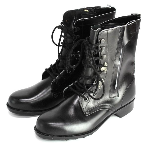 送料無料 安全靴 ドンケル640 鋼製先芯安全靴(半長靴) ファスナー付 JIS規格品 T8101 革製S種合格 3E 一般作業用安全靴 24.0cm~28.0cm