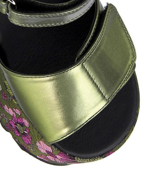 厚底 サンダル ウェッジソール 痛くない 歩きやすい 疲れにくい レディース クッション性 プラットフォーム 美脚 3E 幅広 カジュアル デイリー トレンド ヨースケ YOSUKE 4210013 カーキ