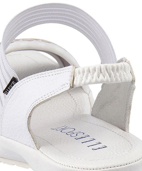 エルスポーツ ゴムストラップ サンダル ローヒール 歩きやすい 疲れない レディース クッション性 美脚 カジュアル デイリー トレンド ELLE SPORT ESP11869 ホワイト