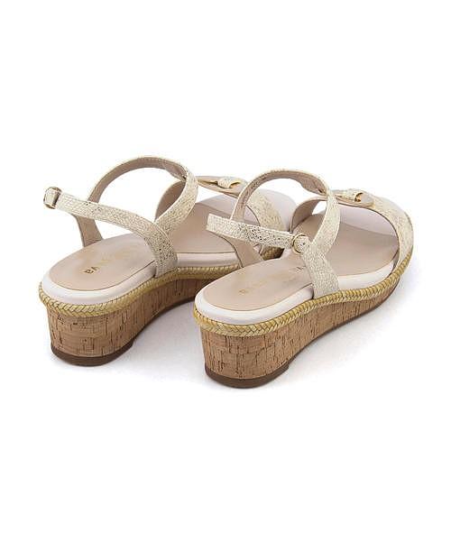 メタルモチーフ サンダル ウェッジソール 歩きやすい 疲れない レディース クッション性 美脚 カジュアル デイリー トレンド サヴァサヴァ cava cava 1320119 アイボリー