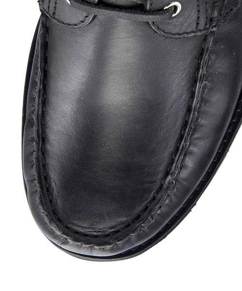 デッキシューズ メンズ 本革 クッション性 抗菌 防臭 カジュアル デイリー トラベル ウォーキング アビーロード ABBEY ROAD AB7525 ブラック