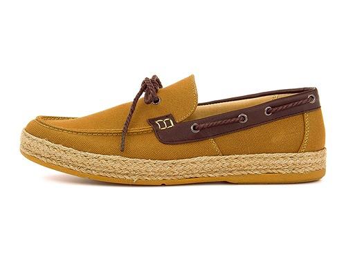 CARIBBEAN JOE(加勒比的乔)男子的甲板鞋131626棕色