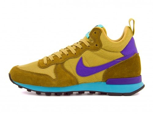 耐克国际主义者女士跑步鞋运动鞋MID NIKE WMNS INTERNATIONALIST MID 683967琥珀色/大衣紫/平地黄金/超级翡翠