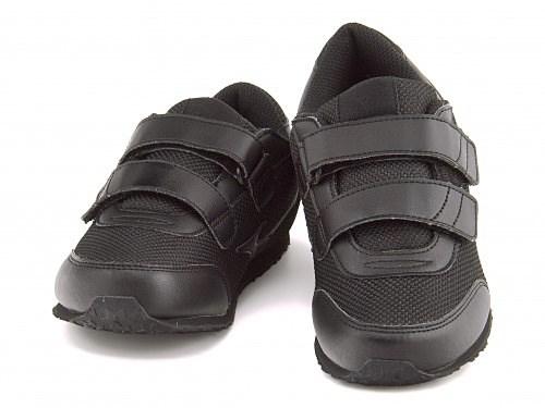 ミズノ 女の子 男の子 キッズ 子供靴 スニーカー ベルクロ 白 黒 通園 通学 運動 モノクロMONOQLO KIDS 09 mizuno K1GD1540 ブラック