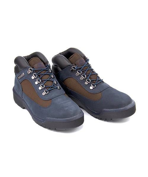 ティンバーランド アウトドアブーツ メンズ フィールドブーツミッドブーツ 軽量 クッション性 防水 雨 雪 靴 M カジュアル デイリー トラベル ウォーキング FIELD BOOT WATERPROOF L/F MID BOOT Timberland A1XMX ネイビーヌバック