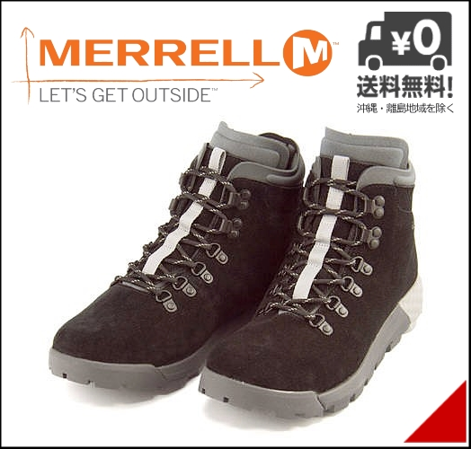 メレル ハイカット スニーカー ブーツ メンズ ウィルダネス AC プラス 軽量 クッション性 カジュアル デイリー トラベル スポーツ アウトドア ウォーキング WILDERNESS AC+ MERRELL J91677 ブラック
